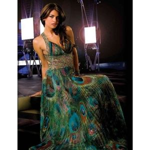 Jovani Peacock Print 1551397 Formal Dress